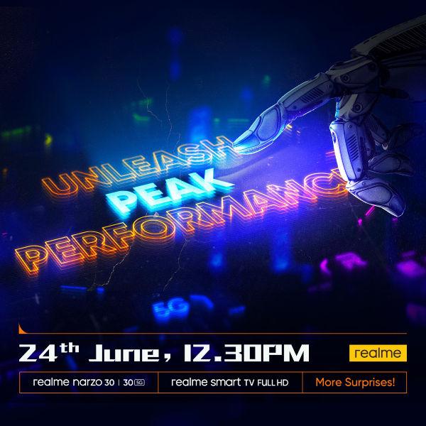 Realme Narzo 30 लॉन्च की तारीख