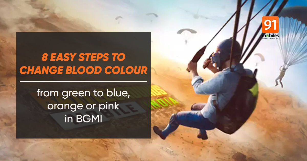 How to change blood colour on BGMI