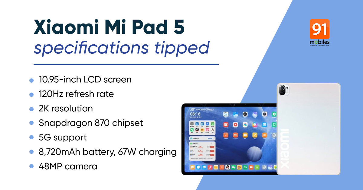 Mi Pad 5 specifications