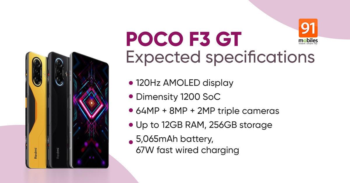 POCO_F3_GT_अपेक्षित_विनिर्देश