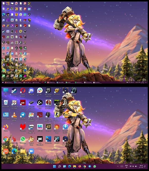 Windows 11 vs Windows 10 Desktop UI