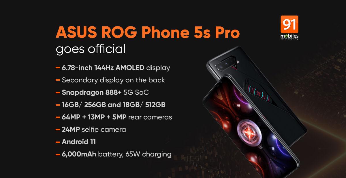 ASUS ROG Phone 5s Pro specs price