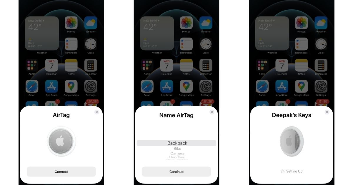 Apple AirTag Find My