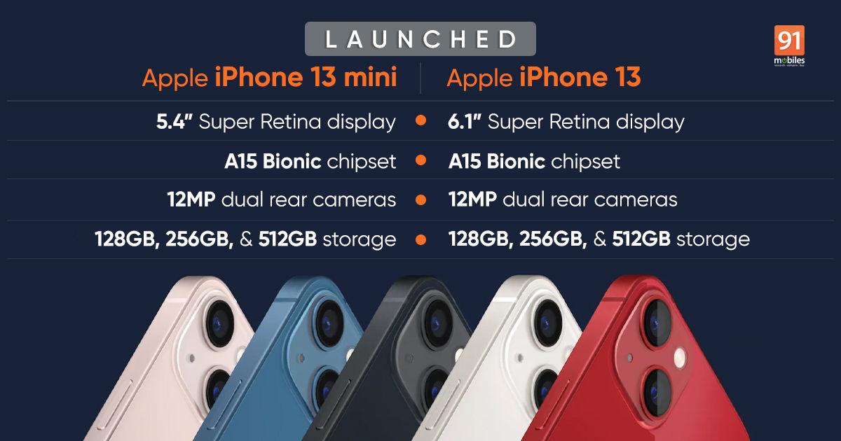 iPhone 13 series price in India